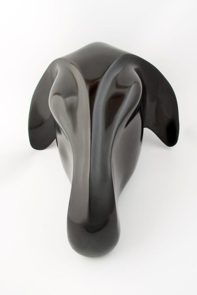 sculpture noire mat