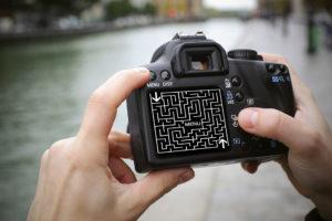 montage labyrinthe appareil photo